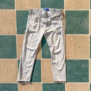 Scotch & Soda Acid Wash Distressed Gray Jeans 33